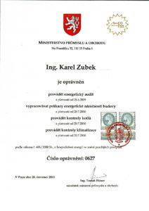Oprávnění ing. K.Zubek