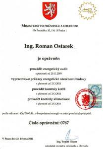 Oprávnění Ing.R.Ostarek